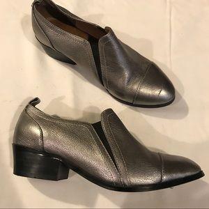 Yosi Samra metallic leather loafer